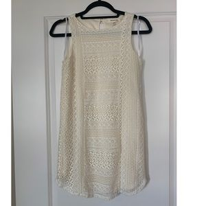 Monteau Cream Lace Dress - Small